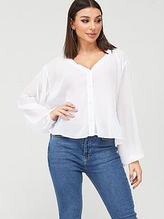 boohoo-boohoo-pleated-blouse-white