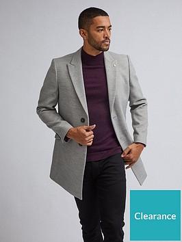 burton-menswear-london-two-button-faux-wool-coat-grey