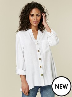 wallis-hi-low-linen-shirt-ivorynbsp