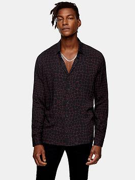 topman-alligator-print-shirt-burgundynbsp