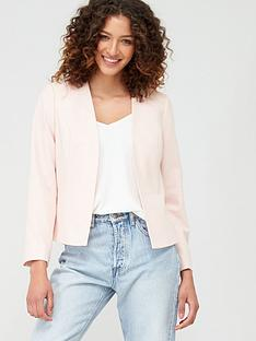 wallis-edge-to-edge-smart-blazer-jacket-blush