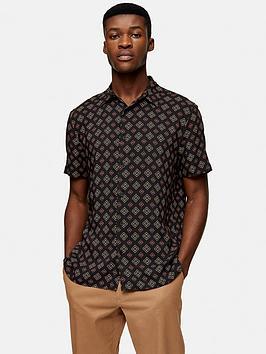 topman-short-sleeve-tile-print-shirt-black