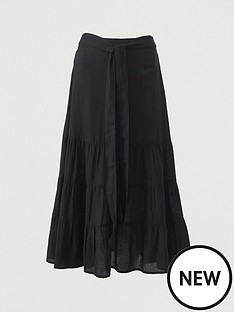 v-by-very-cotton-tie-midi-skirt-black