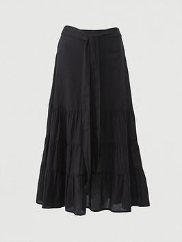 v-by-very-cotton-tie-midi-skirt-black