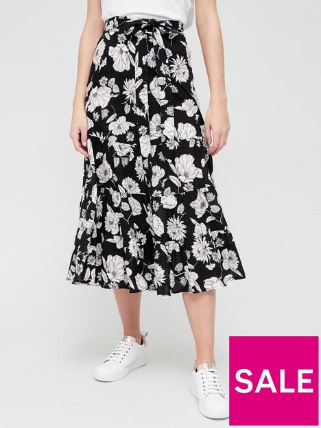 v-by-very-cotton-tie-midi-printed-skirt-mono-print
