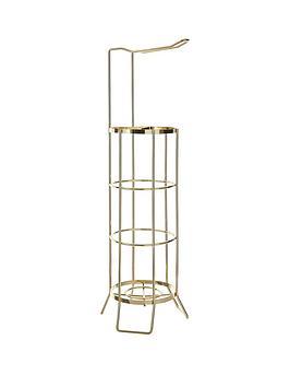 premier-housewares-champagne-gold-toilet-roll-holder
