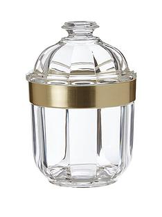 premier-housewares-small-acrylic-canister-with-gold-finish