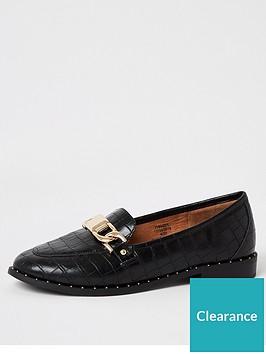 river-island-croc-hardware-loafers-black