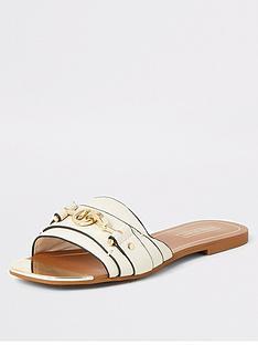 river-island-river-island-snaffle-detail-mule-sandals-cream
