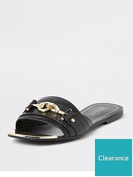 river-island-snaffle-detail-mule-sandals-black