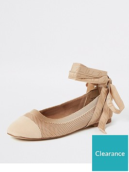 river-island-river-island-bow-detail-ballet-shoe-nude