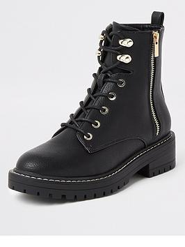 river-island-river-island-lace-up-chunky-biker-boot-black