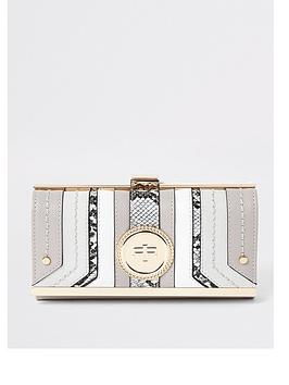 river-island-branded-cliptop-purse-grey