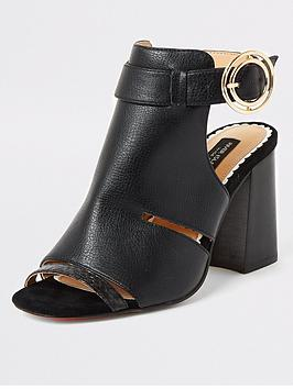 river-island-wide-fit-cut-out-buckle-shoe-bootsnbsp--black