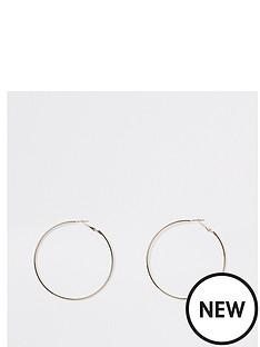 river-island-river-island-simple-round-hoop-earrings-gold