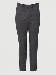 very-man-regular-fit-check-trouser-charcoal