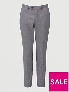 very-man-regular-fit-check-trouser-grey