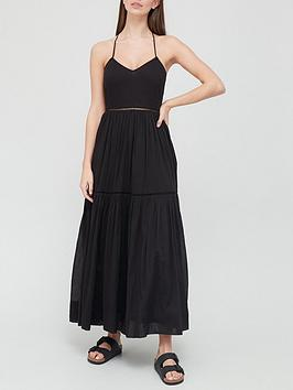 v-by-very-ladder-trim-parachute-dress-black