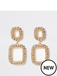 river-island-river-island-chain-ball-wrap-dangle-earrings-gold