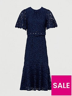 v-by-very-lace-beltednbspmidi-dress-navy