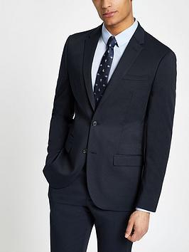river-island-textured-slim-fit-suit-navynbsp