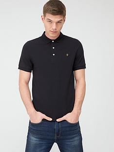 farah-blanes-pique-polo-shirt-black