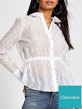 river-island-broderie-waisted-shirt-white