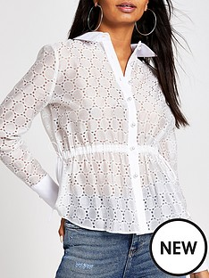 river-island-river-island-broderie-waisted-shirt-white