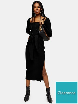 topshop-topshop-square-neck-rib-bodycon-midi-dress-black