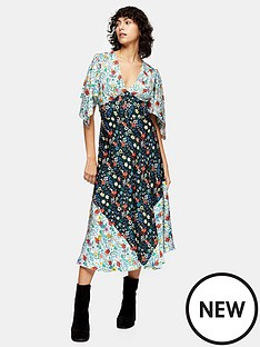 topshop-idol-mixed-print-midi-dress-multi