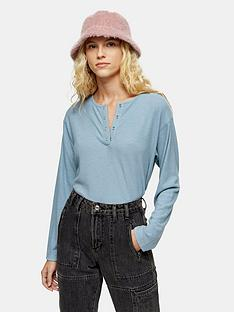 topshop-topshop-long-sleeve-grandad-rib-top-blue