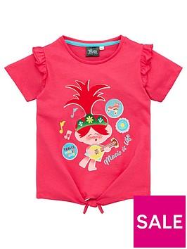 dreamworks-trolls-girls-tie-detail-music-is-life-t-shirt-pink