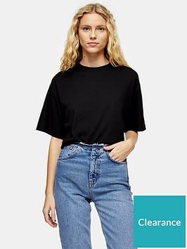 topshop-panel-boxy-t--shirt-black