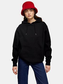 topshop-topshop-cleaned-seam-hoodie-black