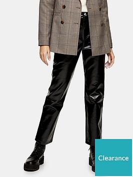 topshop-vinyl-kirby-trousers-black