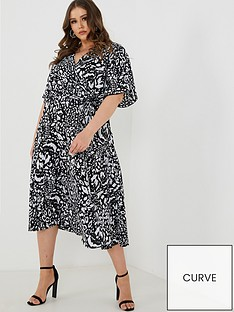 quiz-curve-quiz-curve-black-and-cream-leopard-print-wrap-dress