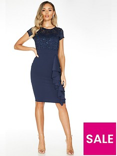 quiz-quiz-navy-lace-sweetheart-neck-cap-sleeve-midi-dress-with-scuba-crepe-skirt