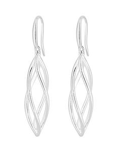 simply-silver-simply-silver-sterling-silver-polished-cage-drop-earrings