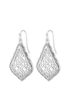 mood-silver-plated-filigree-teardrop-earring