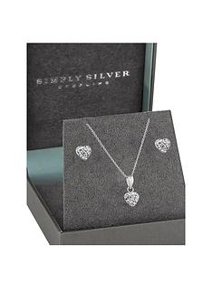 simply-silver-silver-pave-crystal-heart-earring-and-pendant-set