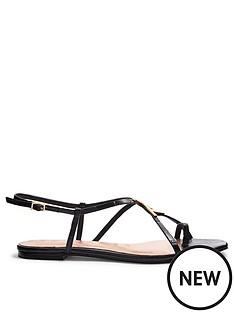 ted-baker-lerinna-embossed-croc-effect-flat-strappy-t-sandal-black