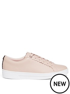 ted-baker-tillys-scalloped-edge-trainer-nude-pink