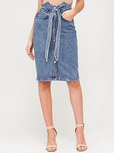 v-by-very-corset-detail-tie-waist-skirt-bleach-wash
