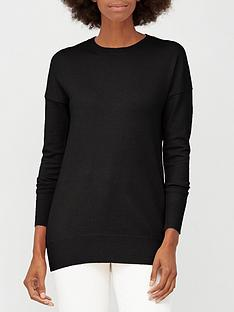 v-by-very-crew-neck-longline-jumper-black