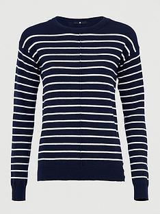 v-by-very-striped-seam-front-detail-button-hem-jumper-navywhite