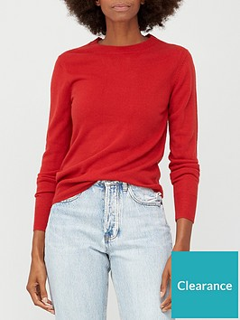 v-by-very-super-softnbspcrew-neck-deep-rib-hem-jumper-red