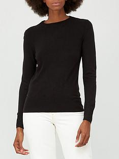 v-by-very-super-softnbspcrew-neck-deep-rib-hem-jumper-black