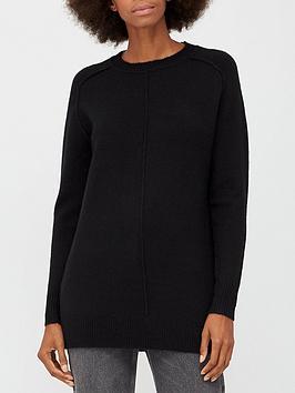 v-by-very-shoulder-seam-detail-longline-jumper-black