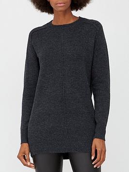 v-by-very-shoulder-seam-detail-longline-jumper-charcoal-marl