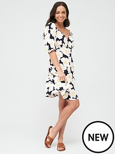 warehouse-nicky-floral-mini-dress-multi